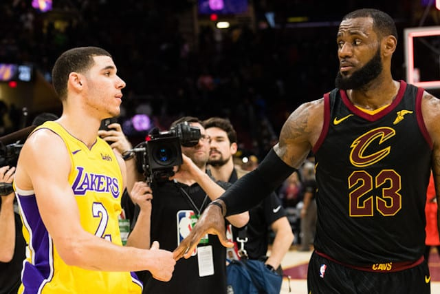 Lonzo Ball Le Bron James Lakers