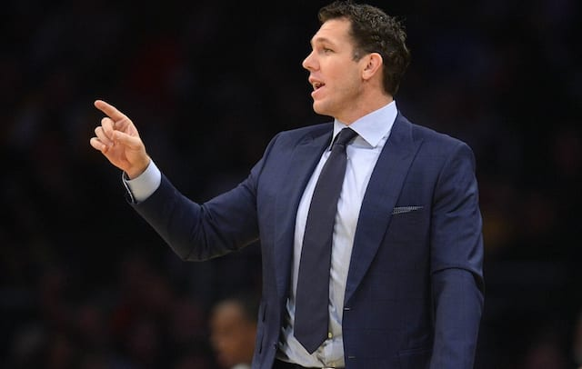 a872c23e5af Luke Walton Says Lakers Players May Not Get To Watch Kobe Bryant Jersey  Retirement Ceremony