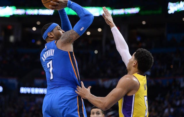 Carmelo Anthony, Josh Hart, Los Angeles Lakers