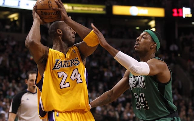 Kobe Bryant, Paul Pierce, Lakers, Celtics