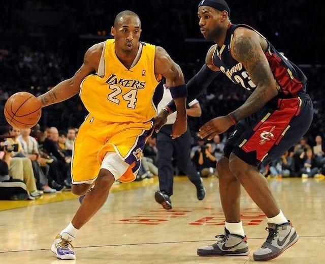 31313068d99 This Day In Lakers History  Kobe Bryant Debuts Nike Zoom Kobe IV  MLK  In  Duel Against LeBron James