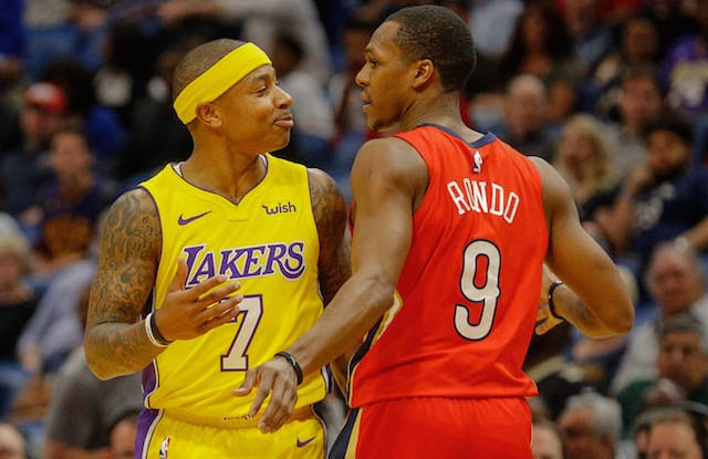 5ba77dca469 Lakers News  Isaiah Thomas Says Rajon Rondo Mentioned Celtics Tribute Video  Tribute During Scuffle