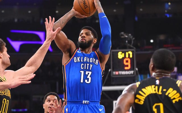 NBA Free Agent Rumors: Paul George's Wife, Parents 'Would Rather Him' Sign With Lakers Than Thunder