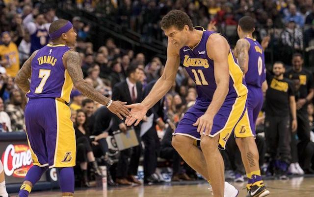 Kyle Kuzma, Brook Lopez, Isaiah Thomas, Lakers