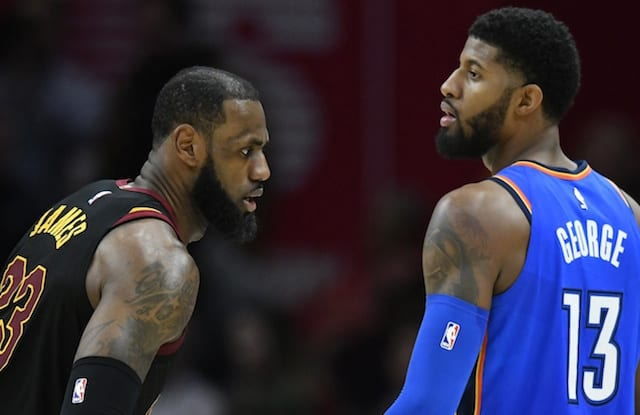 Paul George and LeBron James will reportedly discuss joining Lakers