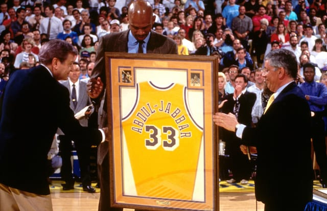 7d3d31174 This Day In Lakers History  Kareem Abdul-Jabbar s No. 33 Jersey Retired
