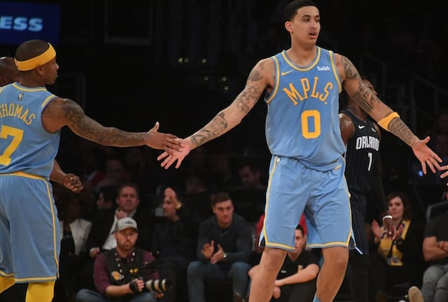 Kyle Kuzma, Isaiah Thomas, Lakers
