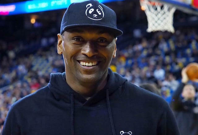 01d3dd2fa Lakers Video  Metta World Peace Hosts 1st Annual Gradelo Celebrity  Basketball Game