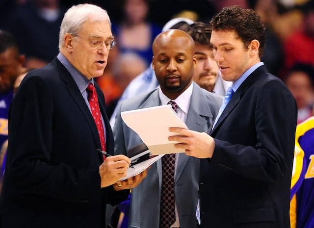 Phil Jackson, Brian Shaw, Luke Walton, Lakers