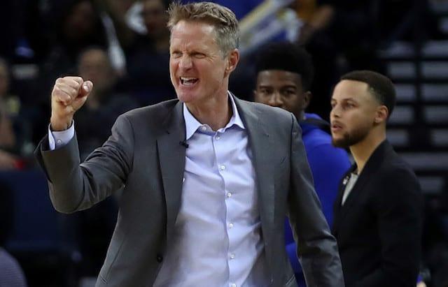 ef27812964e Video: Steve Kerr Jokes That Out-Coaching Luke Walton Was Reason For  Warriors Defeating Lakers