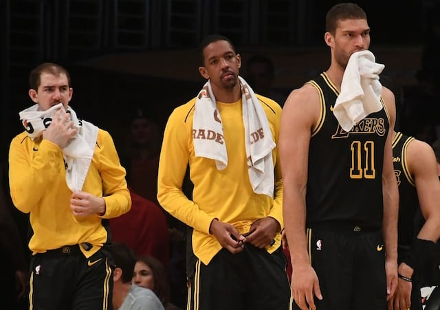 Alex Caruso, Channing Frye, Brook Lopez