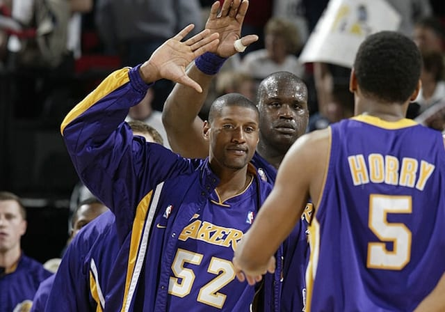 fa8b0f579 This Day In Lakers History  Robert Horry Delivers Game-Winner In Sweep Of  Trail Blazers