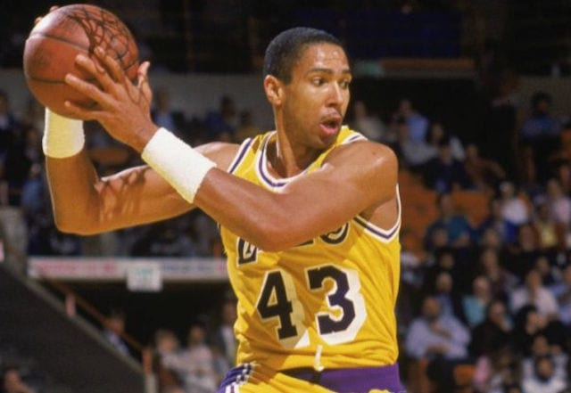 b139a76ad This Day In Lakers History  Mychal Thompson s Monster Performance Leads To  Game Game 2 Victory Over Spurs