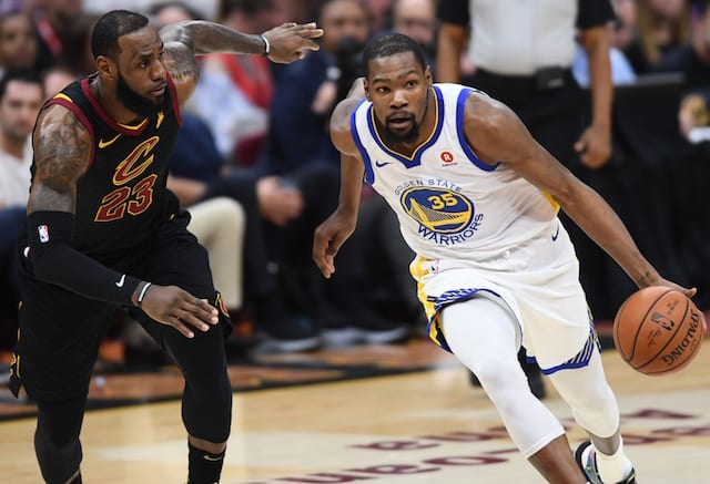 LeBron James: Wait, he didn't text Kevin Durant with tempting offer?