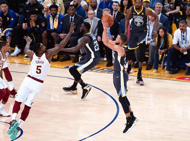 Stephen Curry Breaks NBA Finals Record For Most 3-Pointers, Which Ray Allen Set Against Lakers