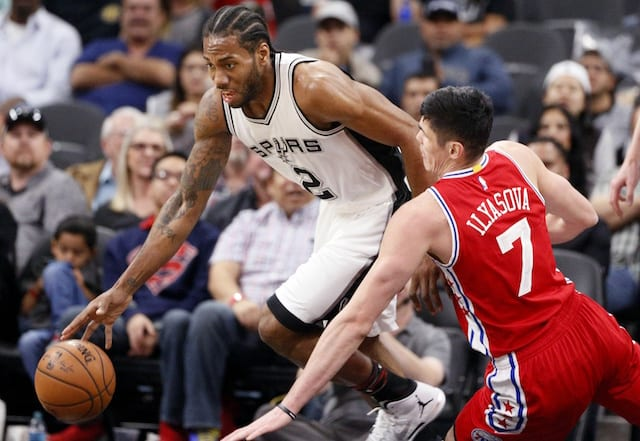 20288f821287 NBA Rumors  Kawhi Leonard Would Be Open To Re-Signing With 76ers