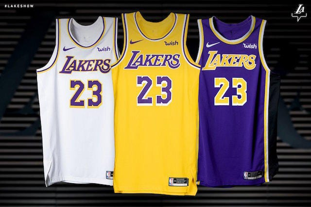 New Lakers Nike Jersey Officially Unveiled For 2018-19 NBA ...