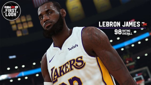 LeBron James, NBA 2K19