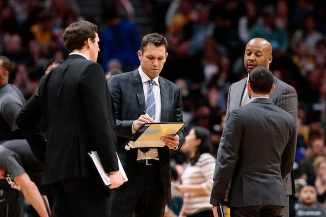 Mark Madsen, Jesse Mermuys, Brian Shaw, Luke Walton, Lakers