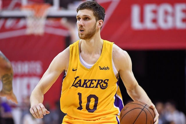 085a5c0ab Lakers News  Svi Mykhailiuk Receives Votes For Best Shooter In 2018-19 NBA  Rookie Survey
