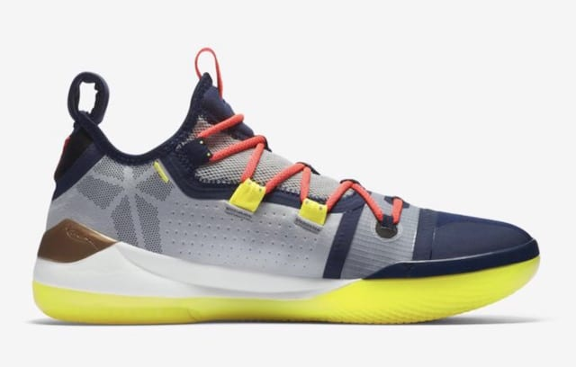 check out 7d5a7 a7bee Along with the multicolor version releasing Friday, Kobe A.D. has been seen  in a colorway that matches the Los Angeles Lakers jerseys, and a third pair  that ...
