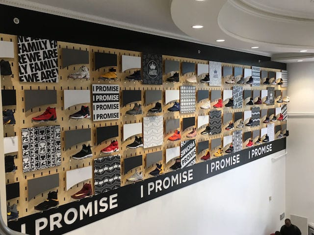 ffc53ae45412 LeBron James Game-Worn Shoes On Display At I Promise School Being Sold To  Benefit LeBron James Family Foundation
