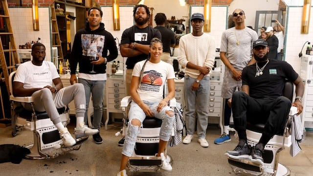 Michael Bennett, Jerrod Carmichael, Maverick Carter, Snoop Dogg, Draymond Green, LeBron James, Candace Parker, HBO The Shop