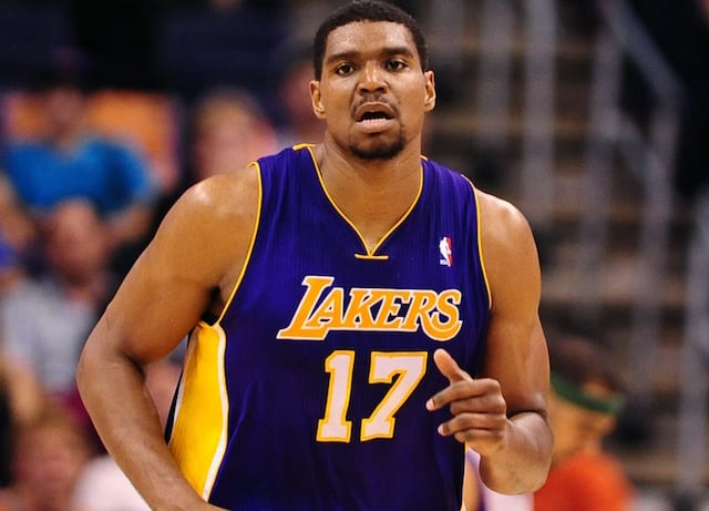 3100eb83853 Lakers Video: Andrew Bynum Working On Transition Game, 3-Point Shot As  Comeback Bid Begins