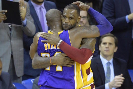 f49a073adb1 Lakers News  Kobe Bryant  Deadly Serious  About Importance Of Passing Torch  To LeBron James In Quest For Championships