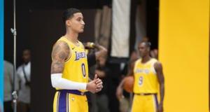 Kyle Kuzma, Rajon Rondo, 2018 Lakers Media Day