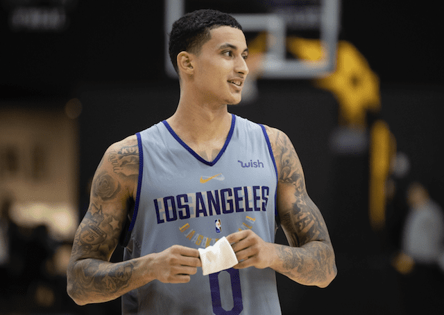 Kyle Kuzma, Los Angeles Lakers training camp