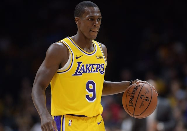 79fc35e7945 Lakers Injury News  Rajon Rondo Expected To Miss 4-5 Weeks After Undergoing  Surgery To Repair Ligament In Right Ring Finger