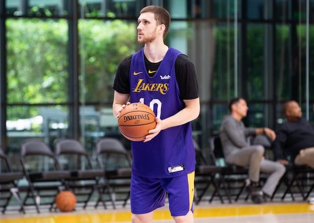 9dca8e6cbb5 Lakers Training Camp  Svi Mykhailiuk May Face Uphill Battle For Minutes