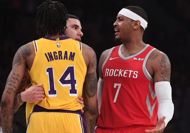 0c4640201 Lakers Rumors  Carmelo Anthony Not In Plans If Released By Rockets