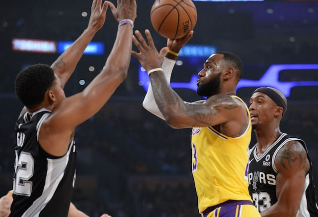Lakers Mount Late Comeback But Lose To Spurs In Overtime When LeBron James  Misses 2 Free Throws 55036991f