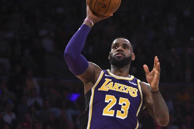 66b2b1e7f9da Lakers  LeBron James Passes Michael Jordan For 4th On NBA All-Time Scoring  List. Robert Hanashiro-USA TODAY Sports