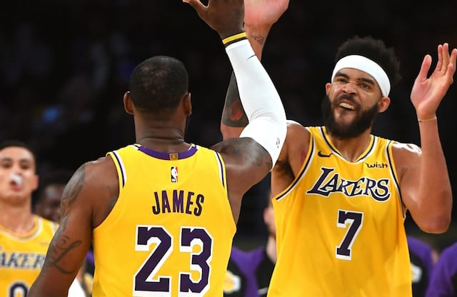 LeBron James, Kyle Kuzma, JaVale McGee, Lakers