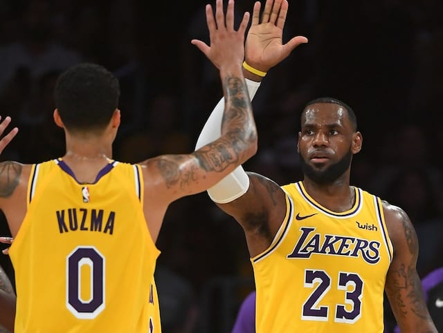 LeBron James, Kyle Kuzma, Lakers