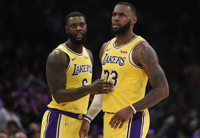 LeBron James, Lance Stephenson, Lakers