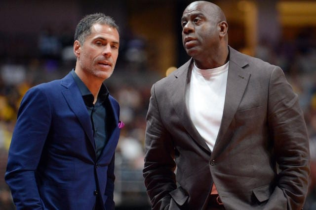 Magic Johnson, Rob Pelinka, Lakers