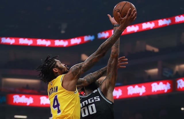 Lakers PG Rondo breaks hand in win over Trail Blazers