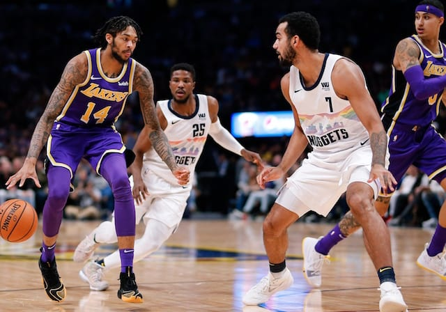 716e641dde9 Lakers Injury Report  Kyle Kuzma Scheduled For MRI On Sprained Ankle    Ruled Out Vs. Nuggets  Brandon Ingram