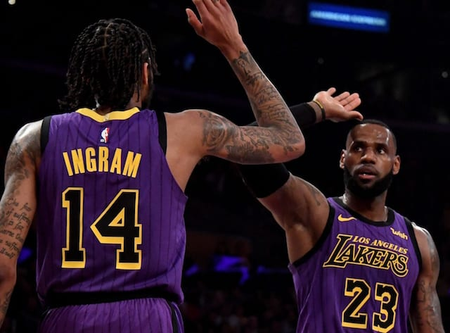Brandon Ingram Le Bron James Lakers