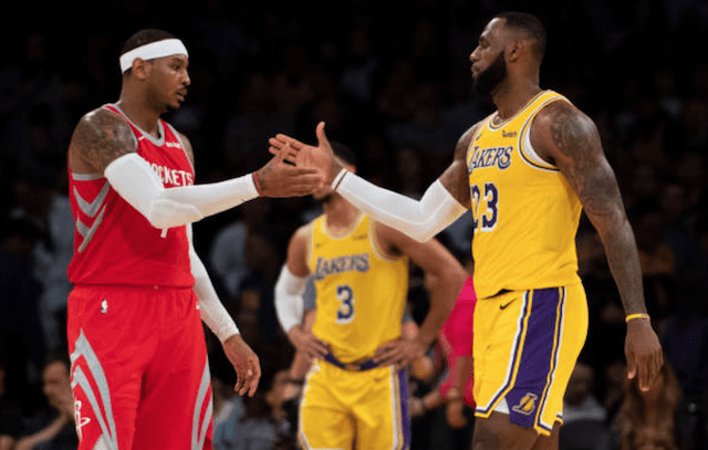 Carmelo Anthony, LeBron James, Lakers