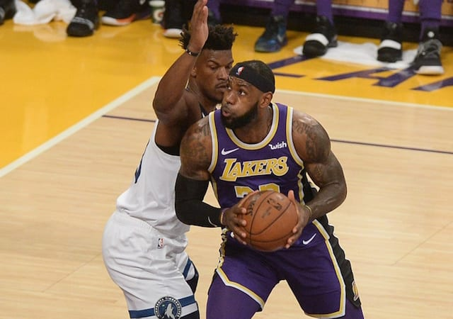 233b8ce14f4dd Lakers News  LeBron James Says Trade For Jimmy Butler Makes 76ers ...
