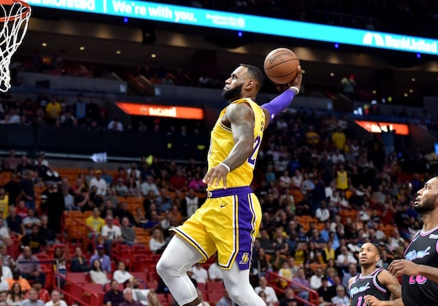 d4f1caffd1c Lakers Highlights  LeBron James Scores 51 Points Against Heat ...