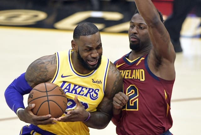 2b609f83ebd LeBron James Carries Lakers Past Cavaliers To Save Homecoming