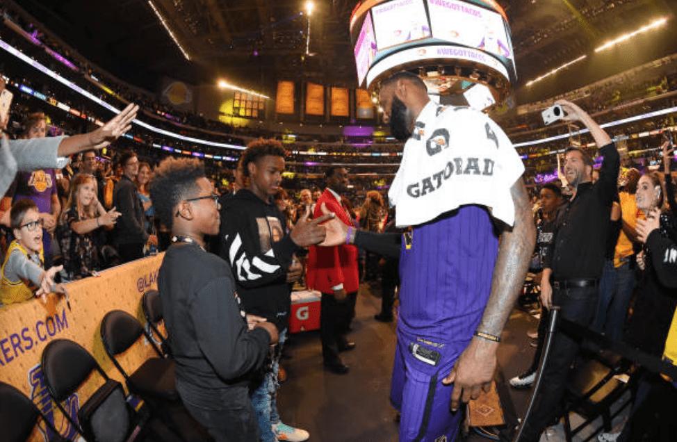 LeBron James, LeBron James Jr., Bronny James, Lakers