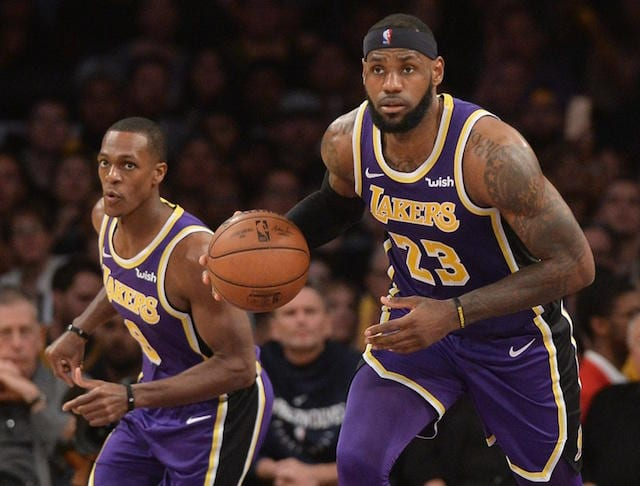 Rajon Rondo Confident Lakers Will Reach Playoffs Because Of LeBron ... 98f942f32