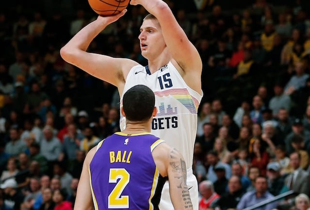 e64fc096d55 Lakers Injury News  Lonzo Ball Suffers Ankle Sprain But Returns Vs. Nuggets